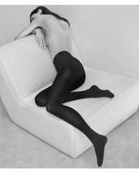 930c167a799e4 Calvin Klein Sheer Essentials Seamless Tights in Black - Lyst