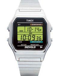 Timex - Classics Digital Dress | Silver-tone Case W Indiglo | Watch T78587 - Lyst