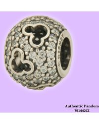 PANDORA - Disney Mickey Silhouettes Charm In 925 Sterling Silver - Lyst