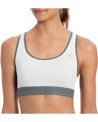 Champion - B1251 The Absolute Workout Double Dry Sports Bra (white/iceglaze Heather L) - Lyst