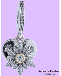 PANDORA - Dangle Snowflake Heart With 14k Gold - Lyst