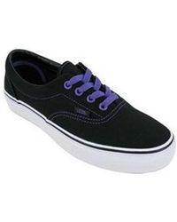 Vans - Unisex Era Lo-canvas Skate Sneakers Blackpassionflower M3.5 W5 - Lyst