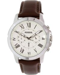 Fossil - Jr1495 Grant Leather Watch - Lyst