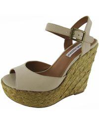 01c9c4c96cf Steve Madden - Womens  chieeff  Platform Wedge Sandal Shoe - Lyst