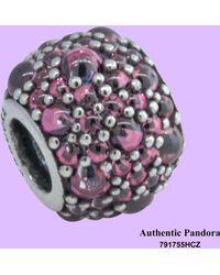 PANDORA - 791755mcz Shimmering Droplet Teal Charm - Lyst