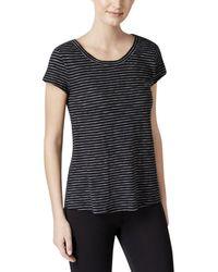 Calvin Klein - Striped V-back T-shirt - Lyst