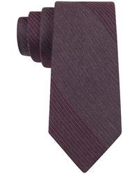 Calvin Klein - Hot Flannels Striped Slim Tie And Graphite Grey - Lyst