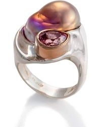 Lainey Papageorge Designs - Vertical Baja Pearl Ring - Lyst