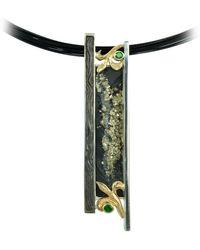 Alex Gulko Custom Jewelry - Pyrite Pendant With Garnets - Lyst