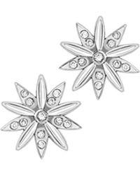 London Road Jewellery - Portobello White Gold Diamond Velvet Leaf Cluster Stud Earrings - Lyst