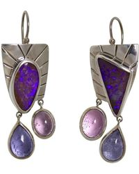 Lainey Papageorge Designs - Morpho Helenor Marineta Butterfly Earrings - Lyst