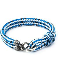 Anchor & Crew - Blue Dash Great Yarmouth Silver And Rope Bracelet - Lyst