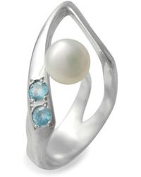 Zolia Jewellery - Pearl Ring - Lyst