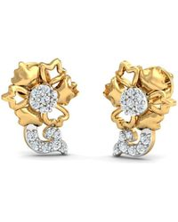 Diamoire Jewels - 18kt Yellow Gold 0.13ct Pave Diamond Infinity Earrings Ii - Lyst