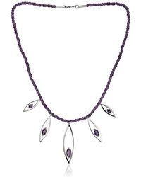 Fiona Kerr Jewellery - Silver And Amethyst Swing Time Necklace - Lyst