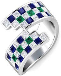 Gunjan Bhandari - Multi Checkered Ring - Lyst