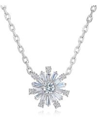 Fei Liu - White Rhodium & Silver Luminous Star Snowflake Cubic Zirconia Pendant - Lyst