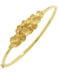 London Road Jewellery | Exclusive Falling Leaves Gold Bangle | Lyst