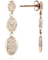 Augustine Jewels - 18kt Yellow Gold Parisian Pavé Diamond Earrings - Lyst