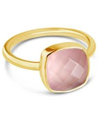 Lily Blanche - Green Amethyst Cocktail Ring In Yellow Gold - Lyst