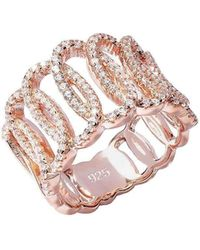 Lustre of London | Rose Squiggle Ring | Lyst