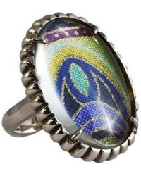 Luke Goldsmith - Silver Womens Material Girl Ring Multi Coloured - Lyst