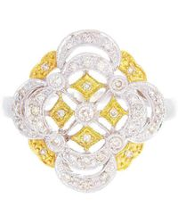 Alexis Danielle Jewelry - Designer 14kt White And Yellow Gold Diamonds Ring - Lyst