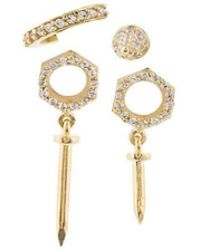 Joanna Laura Constantine - Set Of 4 Nut And Nail Earrings - Lyst