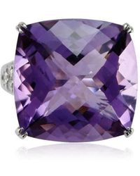 Cherie Thum - Fire And Ice Cushion Amethyst Ring - Lyst