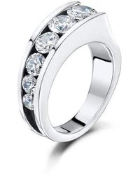 Becky Rowe - Sterling Silver & Cubic Zirconia Multi-stone Ring | - Lyst