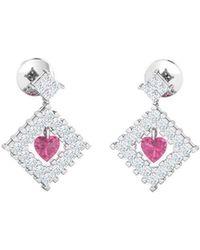 Gunjan Bhandari - Heart In A Frame Earrings - Lyst