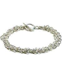 Hiho Silver - Sterling Silver Cascading Multi Rings Bracelet - Lyst