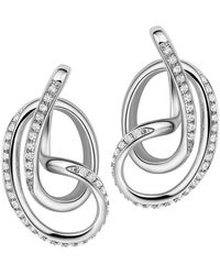 Fei Liu - Rhodium Plated Serenity Stud Earrings - Lyst