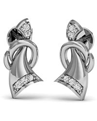 Diamoire Jewels Dignified Premium Diamond Earrings in White Gold jgHtF