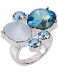 Nadia Minkoff - Sterling Silver Plated Blue Shimmer Kate Cocktail Ring - Lyst
