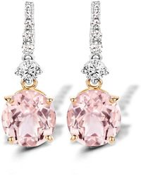 Baskania - Earrings Morganite - Lyst