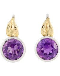freeRange JEWELS - Amethyst Leaf Earrings - Lyst