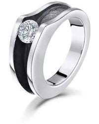 Becky Rowe - Sterling Silver & Cubic Zirconia Ring | - Lyst