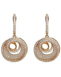 Lustre of London - Rose Spiral Drop Earrings - Lyst