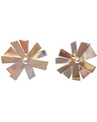 Andrew O Dell Jewellery - Sterling Silver & 9kt Gold Morning Glory Studs - Lyst