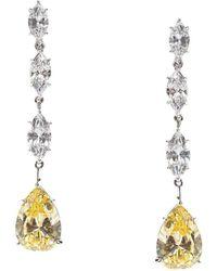 Fantasia by Deserio - Sterling Silver Multi Marquise & Pear Shape Drop Earrings - Lyst