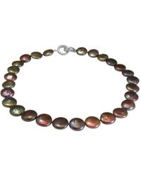 Jupp Fine Jewellery - Black Freshwater Coin Pearl Necklace - Lyst