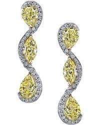 Harry Kotlar - Sunny Pear Shape & Marquise Diamond Drop Earrings - Lyst