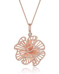 Fei Liu - Cascade Large Pendant In 18kt Rose Gold Plate - Lyst