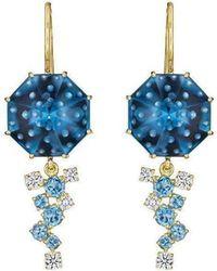 Madstone Design - Blue Topaz Bubble Ice Earrings - Lyst