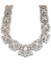 Katherine LeGrand Custom Goldsmith - White Gold & Diamond Lace Collar Necklace | Katherine Legrand - Lyst