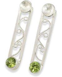 Monica Fiorella Jewelry - Modern Filigree Peridot Earrings - Lyst