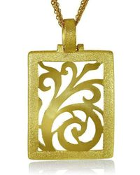 Alex Soldier | Gold Ornament Pendant With Contrast Texture | Lyst