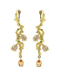 Enamorata - Intertwined Vine Earrings - Lyst