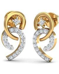 Diamoire Jewels Admirable Designer Diamond Studs in 18kt Yellow Gold